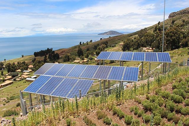 Solární panely v přírodě