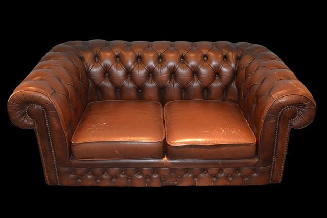 kožená sedačka